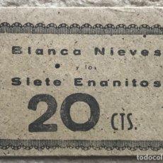 Coleccionismo Cromos antiguos: SOBRE DE CROMOS ÁLBUM BLANCA NIEVES Y LOS SIETE ENANITOS - FHER - AÑOS 40. Lote 182020373