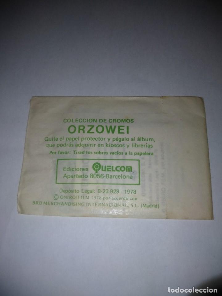 Coleccionismo Cromos antiguos: Sobré cromos Orzowei sin abrir, año 1978 Quelcom - Foto 2 - 182091792
