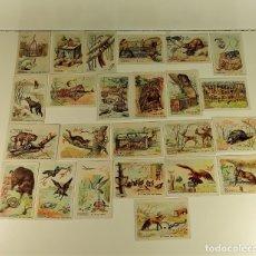 Coleccionismo Cromos antiguos: COLECCIÓN DE 24 CROMOS. TRAMPAS PARA CAZAR. ESPAÑA. SIGLO XX.. Lote 182385120