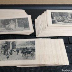 Coleccionismo Cromos antiguos: COLECCION DE 75 CROMOS CON FOTOGRAFIAS DE LACOSTE Y PUBLICIDAD DE ANÍS LA ASTURIANA. Lote 182392830
