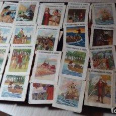 Coleccionismo Cromos antiguos: 49 CROMOS, EL DESCUBRIMIENTO DE AMERICA, CIGARRILLOS LA MASCOTA. Lote 182440782
