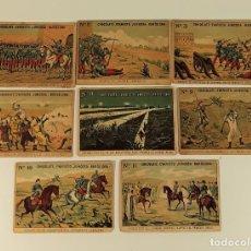 Coleccionismo Cromos antiguos: COLECCIÓN DE 8 CROMOS. GUERRA DE MARRUECOS. CHOCOLATE E. JUNCOSA. SIGLO XX.. Lote 182462030