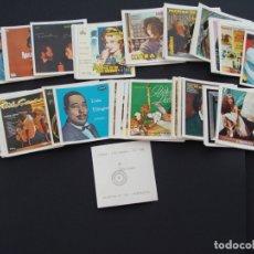 Coleccionismo Cromos antiguos: SURTIDO DE MÁS DE 100 CROMOS - DIFERENTES - COLECCIÓN FUNDAS DE DISCOS DISC-CROM - SALIDA 0,01€. Lote 182470141