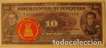 CROMOS ALBUM TELE BANCO CANCION DE ESTE 10 BOLIVARES VENEZUELA (RECUPERADO) (Coleccionismo - Cromos y Álbumes - Cromos Antiguos)