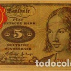 Coleccionismo Cromos antiguos: CROMOS ALBUM TELE BANCO CANCION DE ESTE 5 MARCOS ALEMANIA (RECUPERADO). Lote 182644098