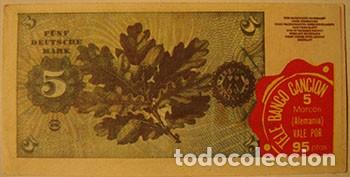 Coleccionismo Cromos antiguos: CROMOS ALBUM TELE BANCO CANCION DE ESTE 5 MARCOS ALEMANIA (RECUPERADO) - Foto 2 - 182644098