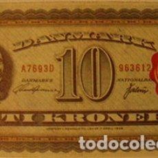 Coleccionismo Cromos antiguos: CROMOS ALBUM TELE BANCO CANCION DE ESTE 10 CORONAS DINAMARCA (RECUPERADO). Lote 182644338
