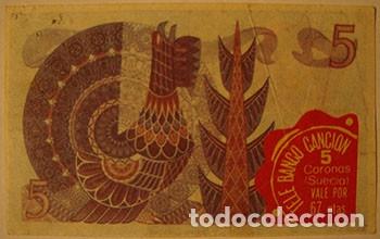 Coleccionismo Cromos antiguos: CROMOS ALBUM TELE BANCO CANCION DE ESTE 5 CORONAS SUECIA (RECUPERADO) - Foto 2 - 182644380