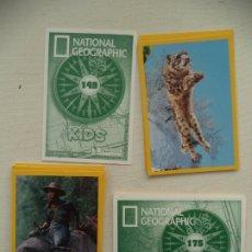 Coleccionismo Cromos antiguos: LOTE DE 145 CROMOS NATIONAL GEOGRAPHIC KIDS PANINI TAMBIEN SUELTOS. Lote 182738807