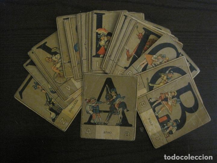 Coleccionismo Cromos antiguos: ABECEDARIO-ILUSTRADO POR OPISSO-COMPLETO 28 LETRAS-ANTIGUO ORIGINAL AÑO 1910 20-VER FOTOS(V-18.098) - Foto 2 - 183029785