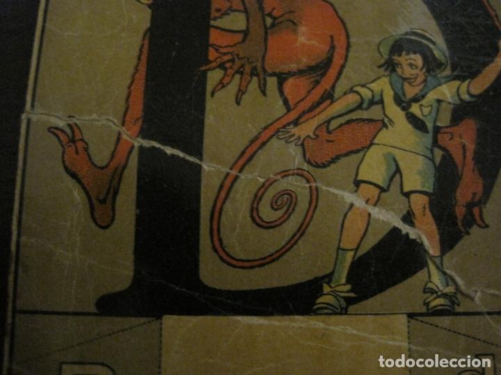 Coleccionismo Cromos antiguos: ABECEDARIO-ILUSTRADO POR OPISSO-COMPLETO 28 LETRAS-ANTIGUO ORIGINAL AÑO 1910 20-VER FOTOS(V-18.098) - Foto 8 - 183029785