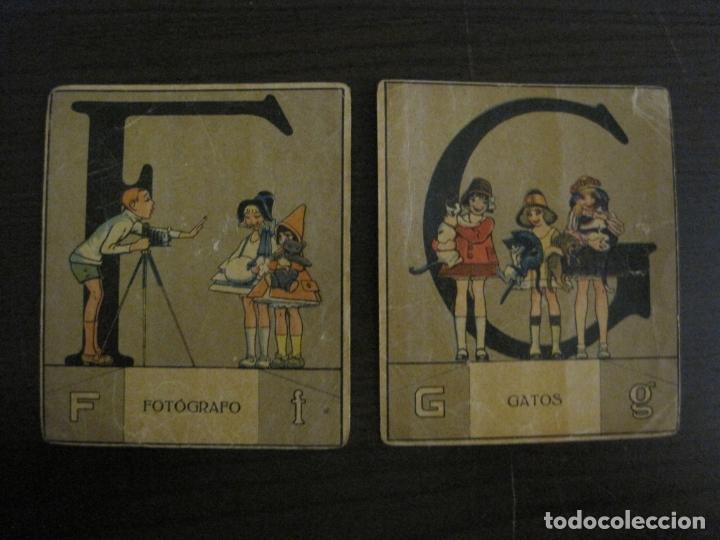 Coleccionismo Cromos antiguos: ABECEDARIO-ILUSTRADO POR OPISSO-COMPLETO 28 LETRAS-ANTIGUO ORIGINAL AÑO 1910 20-VER FOTOS(V-18.098) - Foto 11 - 183029785