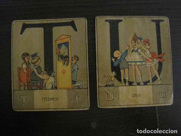 Coleccionismo Cromos antiguos: ABECEDARIO-ILUSTRADO POR OPISSO-COMPLETO 28 LETRAS-ANTIGUO ORIGINAL AÑO 1910 20-VER FOTOS(V-18.098) - Foto 27 - 183029785