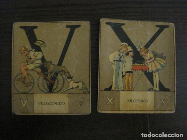 Coleccionismo Cromos antiguos: ABECEDARIO-ILUSTRADO POR OPISSO-COMPLETO 28 LETRAS-ANTIGUO ORIGINAL AÑO 1910 20-VER FOTOS(V-18.098) - Foto 29 - 183029785