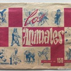 Coleccionismo Cromos antiguos: SOBRE DE CROMOS DEL ÁLBUM LOS ANIMALES - LEOPOLDO ORTIZ MOYA (VALENCIA) - AÑO 1968. Lote 183319653