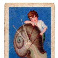 Coleccionismo Cromos antiguos: CROMO - Nº 14 - CARACOLES A LA EXTREMEÑA - COLECCIÓN DE RECETAS - CHOCOLATES AMETLLER - BARGUÑÓ. Lote 183781802