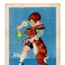 Coleccionismo Cromos antiguos: CROMO - Nº 7 - CONEJO SIGLO XX - COLECCIÓN DE RECETAS - CHOCOLATES AMETLLER - BARGUÑÓ. Lote 183796508