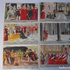 Coleccionismo Cromos antiguos: COLECCIÓN COMPLETA 6 CROMOS LIEBIG SERIE LA HISTORIA ITALIANA ( XV ). Lote 184084090