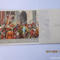 Coleccionismo Cromos antiguos: COLECCIÓN COMPLETA 6 CROMOS LIEBIG SERIE LA HISTORIA ITALIANA ( IX ). Lote 184084750