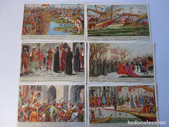 Coleccionismo Cromos antiguos: COLECCIÓN COMPLETA 6 CROMOS LIEBIG SERIE LA HISTORIA ITALIANA ( IX ) - Foto 2 - 184084750