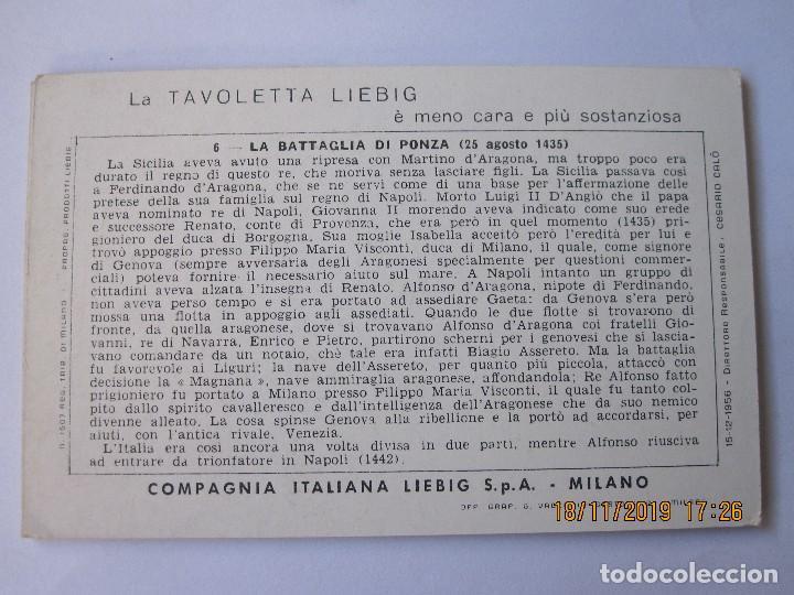 Coleccionismo Cromos antiguos: COLECCIÓN COMPLETA 6 CROMOS LIEBIG SERIE LA HISTORIA ITALIANA ( IX ) - Foto 3 - 184084750