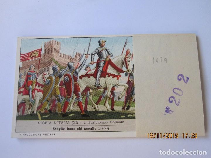 COLECCIÓN COMPLETA 6 CROMOS LIEBIG SERIE LA HISTORIA ITALIANA ( XI ) Nº 202 (Coleccionismo - Cromos y Álbumes - Cromos Antiguos)