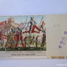 Coleccionismo Cromos antiguos: COLECCIÓN COMPLETA 6 CROMOS LIEBIG SERIE LA HISTORIA ITALIANA ( XI ) Nº 202. Lote 184085307
