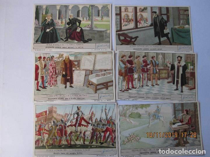 Coleccionismo Cromos antiguos: COLECCIÓN COMPLETA 6 CROMOS LIEBIG SERIE LA HISTORIA ITALIANA ( XI ) Nº 202 - Foto 2 - 184085307