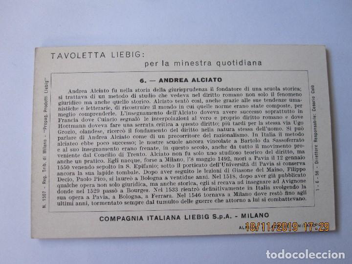 Coleccionismo Cromos antiguos: COLECCIÓN COMPLETA 6 CROMOS LIEBIG SERIE LA HISTORIA ITALIANA ( XI ) Nº 202 - Foto 3 - 184085307