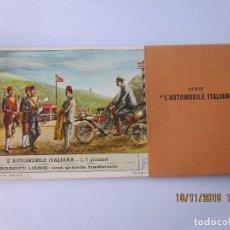 Coleccionismo Cromos antiguos: COLECCIÓN COMPLETA 6 CROMOS LIEBIG SERIE EL AUTOMOBIL ITALIANO. Lote 184085782