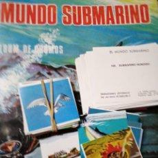 Coleccionismo Cromos antiguos: MUNDO SUBMARINO CROMOS. Lote 184154332
