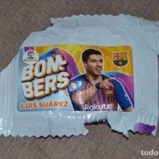 Coleccionismo Cromos antiguos: CHICLES CHICLE LIGA 2019-20 19-20 BOMBERS LUIS SUAREZ FC BARCELONA. Lote 178129463