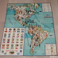 Coleccionismo Cromos antiguos: COLECCION COMPLETA DE 55 CROMOS PUZLE MAPA DE AMERICA CHOCOLATES JAIME BOIX. Lote 184297206