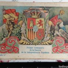 Coleccionismo Cromos antiguos: COLECCION DE CROMOS COMPLETA PRIMER CENTENARIO DE LA GUERRA DE LA INDEPENDÈNCIA ESPAÑOLA SERIE 1. Lote 184556000