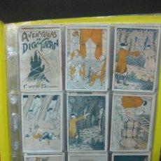 Coleccionismo Cromos antiguos: AVENTURAS DE DICK TURPIN. 1ª Y 2ª SERIE. COMPLETAS, 25 CROMOS CADA SERIE. CHOCOLATES GUILLEN.... Lote 187086003