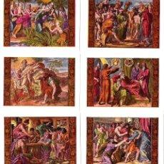Coleccionismo Cromos antiguos: COLECCIÓN COMPLETA DE 50 CROMOS - HISTORIA SAGRADA - ANTIGUO TESTAMENTO - LLUIS GILI - VER FOTOS.. Lote 187509855
