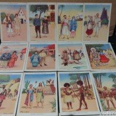 Coleccionismo Cromos antiguos: COLECCION LAS RAZAS HUMANAS COMPLETA CHOCOLATES EVARISTO JUNCOSA. Lote 187622088
