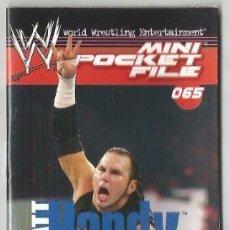Collezionismo Figurine antiche: WWE. MINI POCKET FILE. Nº 65. MATT HARDY. Lote 187634657