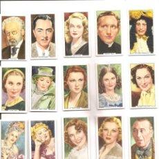 Coleccionismo Cromos antiguos: 739. ACTORES / ACTRICES (37 CROMOS). Lote 189929468