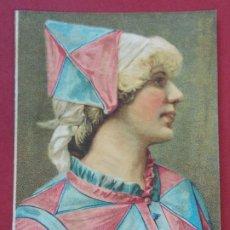 Coleccionismo Cromos antiguos: CROMO LOUIT FRÈRES & CIA - MOUTARDE DIAPHANE - MUJER - DIPLOMA DE HONOR BORDEAUX .. L557. Lote 190443223