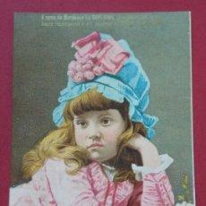 Coleccionismo Cromos antiguos: CROMO LOUIT FRÈRES & CIA - MOUTARDE DIAPHANE - MUJER - DIPLOMA DE HONOR BORDEAUX .. L560. Lote 190443387