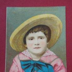 Coleccionismo Cromos antiguos: CROMO LOUIT FRÈRES & CIA - MOUTARDE DIAPHANE - MUJER - DIPLOMA DE HONOR BORDEAUX .. L561. Lote 190443423