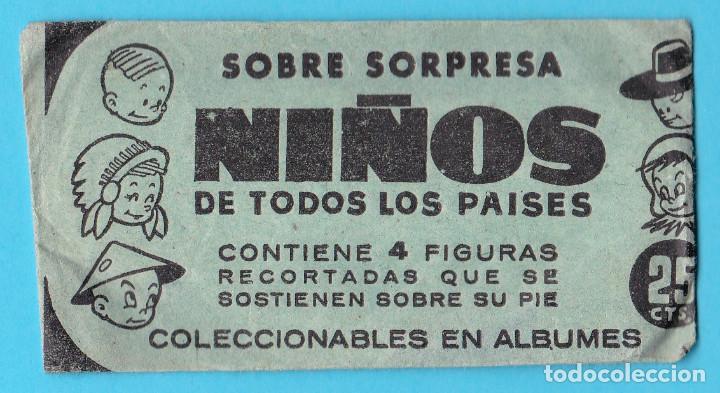 SOBRE DE CROMOS SIN USAR. SOBRE SORPRESA NIÑOS DE TODOS LOS PAÍSES. (Coleccionismo - Cromos y Álbumes - Cromos Antiguos)