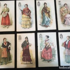Coleccionismo Cromos antiguos: ANDALUCÍA. 8 CROMOS. COLECCIÓN DE TIPOS DE LAS PROV. DE ESPAÑA. CHOCOLATE JAIME BOIX.. Lote 190849287