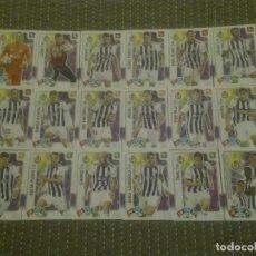 Coleccionismo Cromos antiguos: SET COMPLETO REAL VALLADOLID 18 CARDS BÁSICAS - ADRENALYN XL LIGA 2019 2020. Lote 191230400