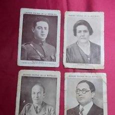 Coleccionismo Cromos antiguos: GRANDES FIGURAS DE LA REPUBLICA. 4 CROMOS. CHOCOLATE SAN FERNANDO. RIUCORD.... Lote 191725278