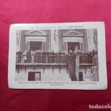 Coleccionismo Cromos antiguos: LA PROCLAMACIÓN DE LA REPÚBLICA. CROMO Nº 39. CHOCOLATES JUNCOSA. Lote 191727818