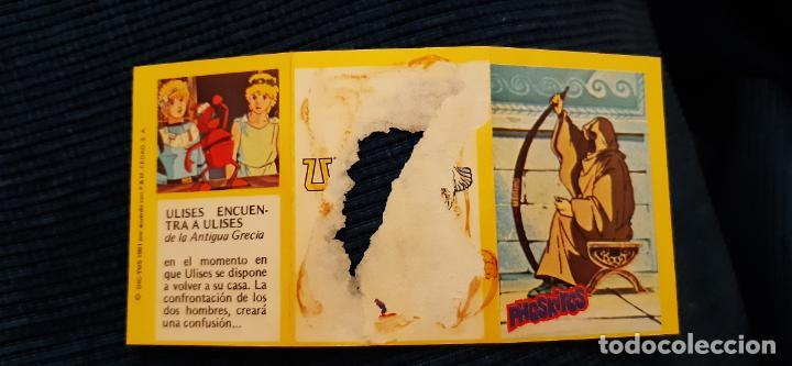 Coleccionismo Cromos antiguos: DIFICIL CROMO TRIPTICO ULISES 31 PHOSKITOS CAPÍTULO ULISES ENCUENTRA A ULISES N 16 CON ROTURA - Foto 2 - 137812862