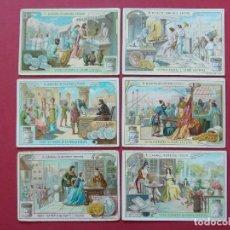 Coleccionismo Cromos antiguos: 6 CROMOS ANTIGUOS - VERO ESTRATTO DI CARNE LIEBIG - TEXTO EN ITALIANO... L616. Lote 191960056