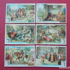 Coleccionismo Cromos antiguos: 6 CROMOS ANTIGUOS - VERITABLE EXTRAIT DE VIANDE LIEBIG - TEXTO EN FRANCES ... L622. Lote 191961705